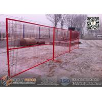 "China 8ft Temporary Construction Fencing with 1"" square tube frame and high visible RED color wholesale"
