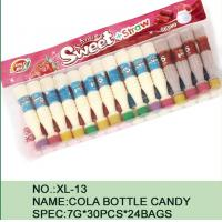 China Sweet Straw Bottle Cola Sugar Powder Candy With Different Flavor / Color wholesale