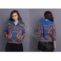 China Autumn Wool Women Jacquard Sweaters Cowl Neck Cardigan With Zipper for Young Ladies wholesale