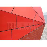 China Modern Shiny Orange Aluminum Honeycomb Panels Polyester Coating wholesale