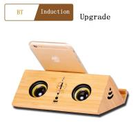 China Portable Wireless Bluetooth Speaker with  wooden gifts Usb Charging Port  FM radio display online on sale