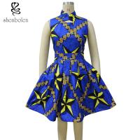 China Wax Printed African Print Traditional Designer Maxi Dresses Fashionable wholesale