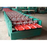 China 5.5KW Secret Joint Roof Panel Roll Forming Machine Hydraulic Cutting With CE wholesale
