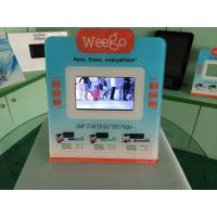 China 7 Inch Calender / Clock UV Printed POS Advertising Display With Video Auto Play wholesale