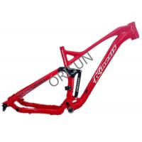 Red Full Suspension Bike Frame 27.5er Plus Trail / Am Riding Style Custom Logo