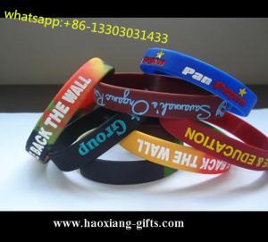 China Hot Selling promotion Colorful logo fashion custom silicone wristband/bracelet wholesale