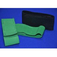 China Heavy Duty Elastic Hook And Loop Strap Cinch Straps , Green Black wholesale