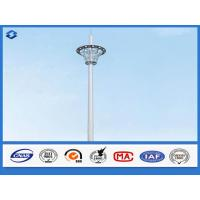 Buy cheap Hot Dip Galvanized Monopole cell Tower Steel Telecommunication Pole 20 - 50m Height from wholesalers