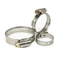 China Aluminum / 304 Stainless Steel Hose Clamps Metal Stamped Parts Industrial Hose Clamps wholesale