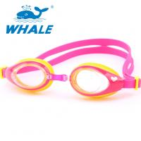 China Shatterproof Silicone Swimming Goggles PC Material With Leak Proof UV Protection wholesale