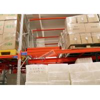 Buy cheap Beverage Industry Push Back Rack Orange Double Deep Pallet Racking Heavy Duty from wholesalers