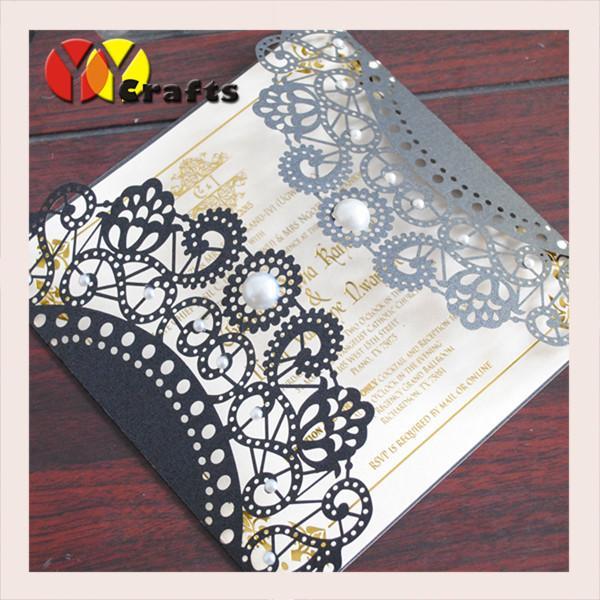 Wedding invitation card hot sale black card with round for Wedding invitation envelopes for sale