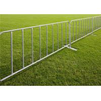 Buy cheap Galvanized removable temporary crowd control barrier outdoor traffic road from wholesalers