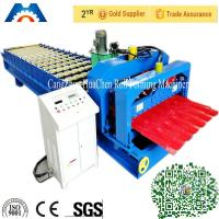 China Aluminium Corrugated Sheet Roll Forming Machine For 0.3 - 0.7mm Roof Tile on sale