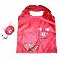 China Foldable shopper bag, Cat-shaped for promotional purposes, Durable, Environment and Fashionable wholesale