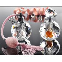 China Hot Stamping 10ml Mini Crystal Perfume Bottles With Bulb Sprayer Pump wholesale