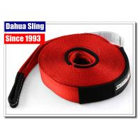 China 20000Lb Red Recovery Tow Strap With Hooks , Winch Extension 12 TON 4WD on sale