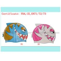 Quality kids cartoon swimming cap for sale