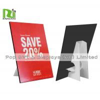 China Customized A4 Size Cardboard Standee Advertising Paper Pop Display wholesale