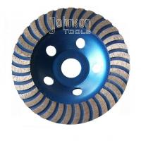China Turbo Cup 5 Inch 125mm Diamond Grinding Disc For Stone With M14 Thread wholesale