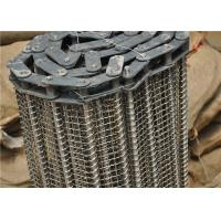 China Stainless Steel Wire Mesh Conveyor Belt With Chain Smooth Surface wholesale