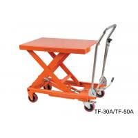 China Hydraulic Compact Manual Scissor Lift Table High Capacity For Assembly Line wholesale