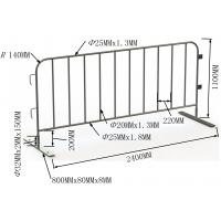 Wholesale hot dipped galvanized crowd control fencing for sale 1100mm x 2200mm OD 20 pipes www.crowdcontrolbarriers.net.au from china suppliers