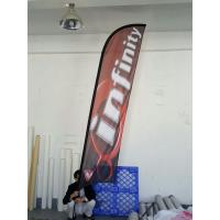 Quality Single Sided Bow advertising feather flags with black cross base and pvc water for sale