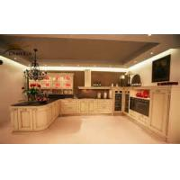 China Classic Modular Kitchen Cabinets Indoor Beveled Edge PVC Membrance Surface wholesale