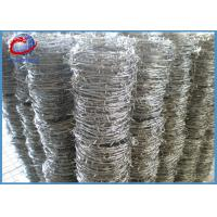 China Hot Dipped Galvanized Barbed Wire For Fencing , Barb Length 1.5-3mm wholesale