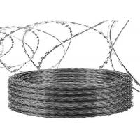 China CBT65 Galvanized Anti - Climb Concertina Razor Barbed Wire 0.5mm Thickness wholesale