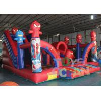 Quality Digital Printing Funny Inflatable Bouncer Spider Man Playground For Rental Park for sale
