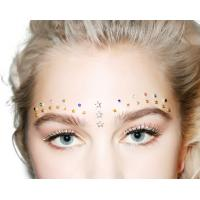 Quality Festival Rhinestone Body Jewelry Tattoo Stickers , Self Adhesive Face Jewels for sale