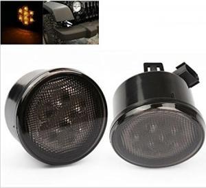 China Yellow Front Jeep Wrangler Turn Signal Lens, Smoke Len Jeep Wrangler Tail Lights wholesale