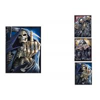 China 3 Images Scary Skull Heads 3D Lenticular Flip 30x40cm For Home Decoration wholesale