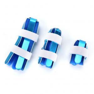 China Blue color hand brace splint S M L size aluminum finger sport for medical wholesale