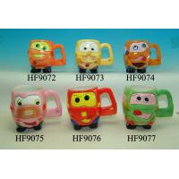 Wholesale Cartoon Custom Ceramic Mugs Cup With Animals Head Relief 11.5 X 8.5 X 10 Cm from china suppliers