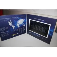 China USB port Magnetic switch LCD video card , business LCD Video Brochure wholesale