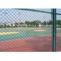 China Green Plastic Coated Chain Link Fencing Low Carbon Steel Wire Material wholesale