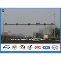 Buy cheap 86um Galvanization Steel Traffic Signal Pole Customized Polygonal IP54 Protection grade from wholesalers