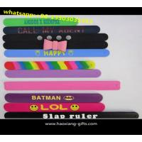 China New Products Top Quality Logo Colorful Printed Customized Logo Reflective Slap wristband wholesale