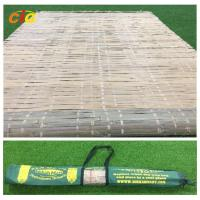 China Summer Outdoor Furnitures Bamboo Sleeping Mat Raffia Grass Tied With Carrying Bag wholesale