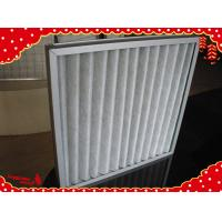 China 595x595x22mm non woven fabric GI / AL frame washable pleated panel air filter G4 wholesale