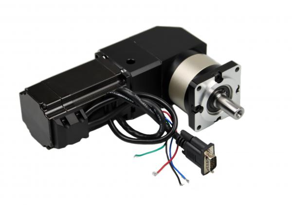 Quality Nema23 18kg.Cm 4.2A Geared CNC Stepepr Motor With WPLF60 1:3 90 Degree Angle Gearbox for sale