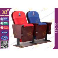 China East African Vintage Auditorium Church Hall Chairs With Embroidered Logo On Back wholesale