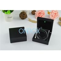 China Luxury Painting Wooden Boxes LED Coin Display Box With Acrylic Display Stand wholesale