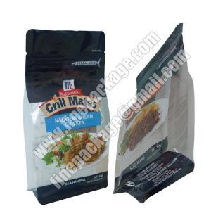 China square bottom plastic 8 side seal bag,plastic bags with block bottom, block bottom side gusset bag wholesale