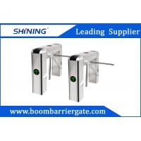 China 100W LED Display Waist Height Tripod Turnstile Gate With Tubular Bumper wholesale