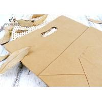 China Reusable Takeaway Paper Bags Punched Handle White / Brown Kraft Paper wholesale