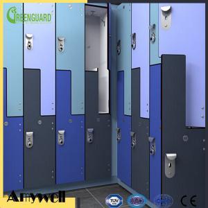 China Amywell Z shape modern Waterproof and Fireproof HPL Locker on sale